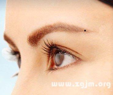 眉尾有痣图解 眉尾的痣代表什么