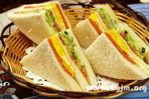 梦见三明治