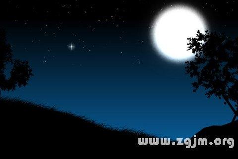 梦见夜晚 黑夜