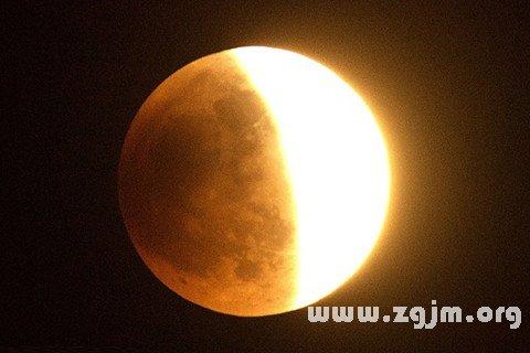 梦见月食 日食