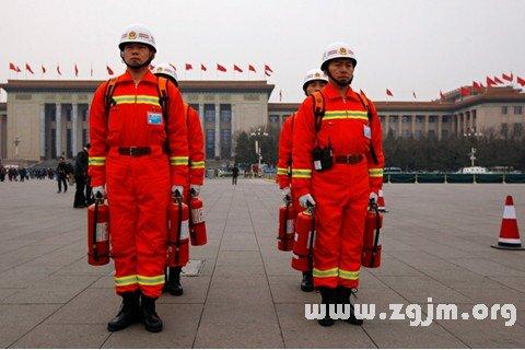 梦见消防员 救火队员