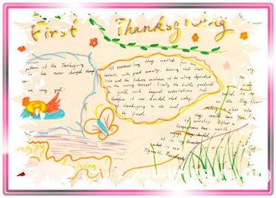 感恩节英语手抄报图片
