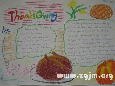 感恩节英语手抄报内容图片