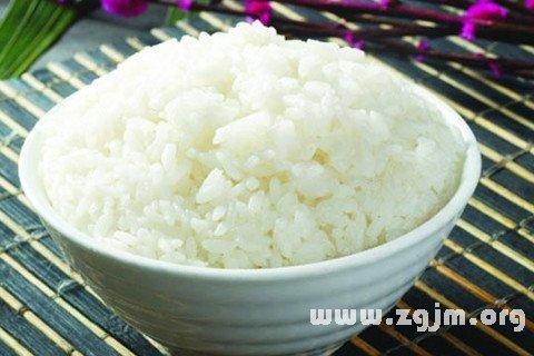 做梦梦见白米饭是什么