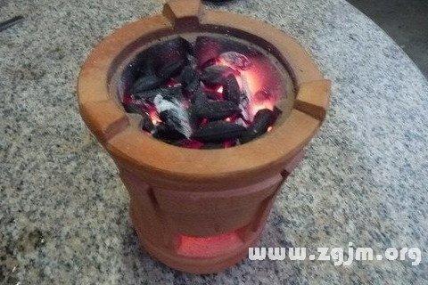 梦见焦炭炉