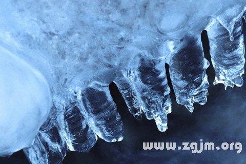 梦见水结冰