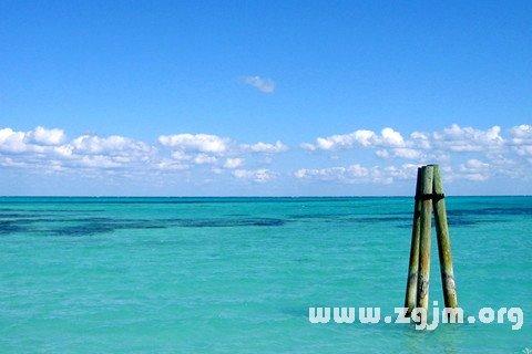 梦见水 到处都是水
