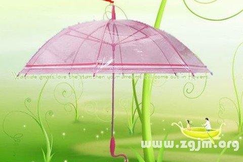 梦见买花雨伞