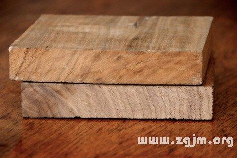 梦见厚木板