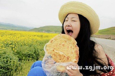 梦见吃烧饼