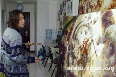 梦见失业者画油画