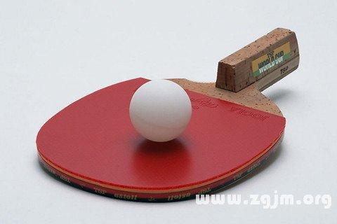 梦见兵乓球