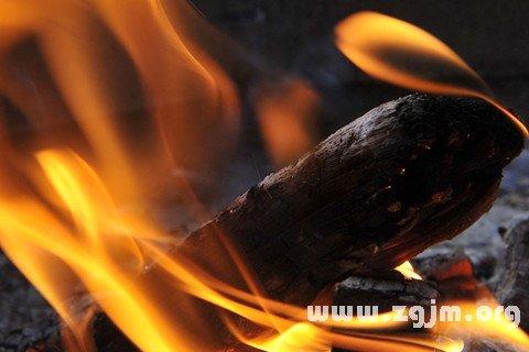 梦见木材燃烧