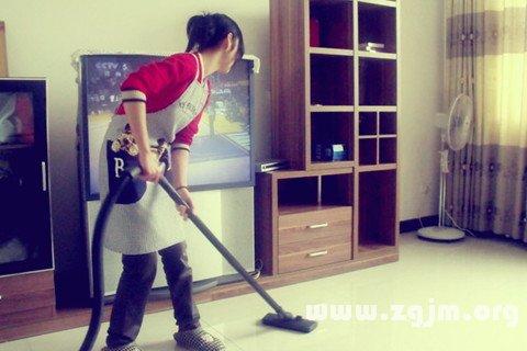梦见做家务