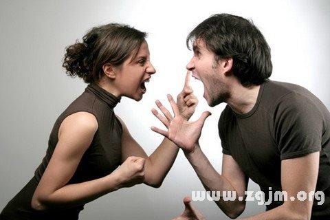 梦见和男友吵架