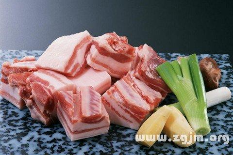 梦见吃猪肉