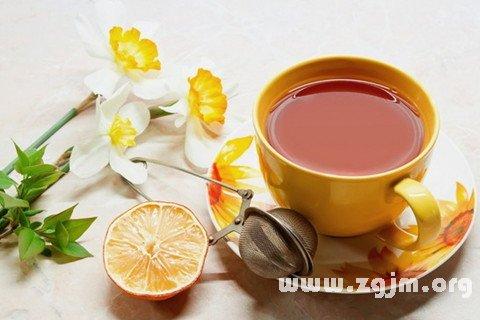 梦见喝花茶