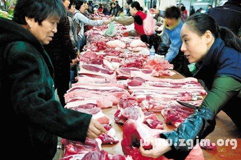 梦见买猪肉