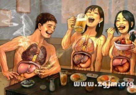 梦到好多人一起吃肉