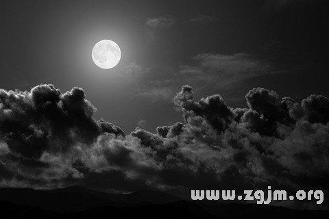 梦见密云散开月光明亮