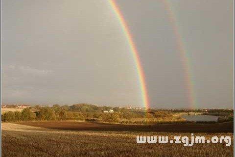 梦见出现两条彩虹