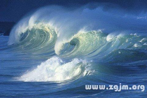 梦见大海涨潮