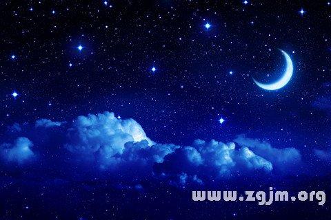 梦见日月星