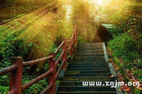梦见阶梯 台阶