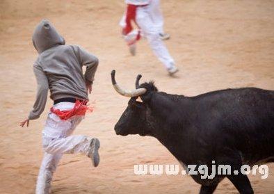 梦见被牛追赶