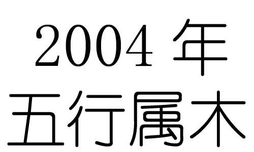 2004年五行属什么?2004年出生是什么命?
