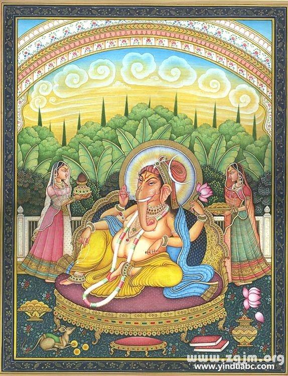 印度象神Ganesha的妻子