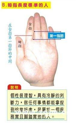 拇指长度标准的人