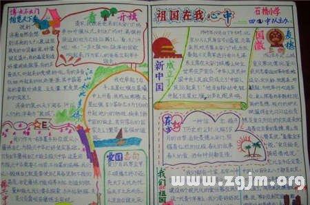 国庆节手抄报图片 盘旋东方的巨龙