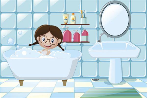 梦见小女孩洗澡