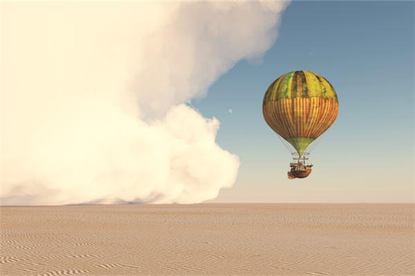 梦见乘坐热气球