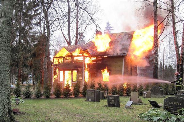 房子烧了一半