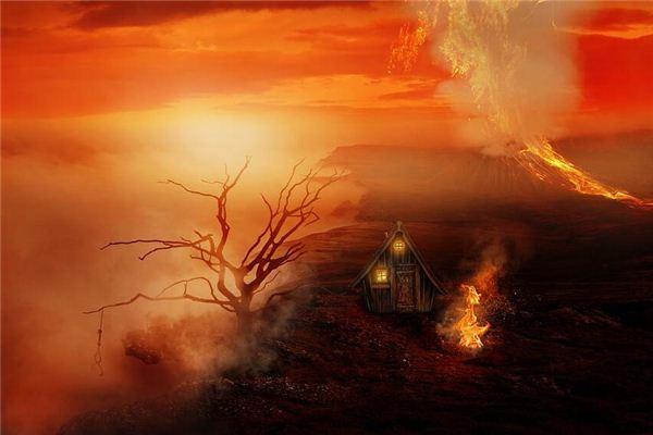 梦见火山爆发毁了家