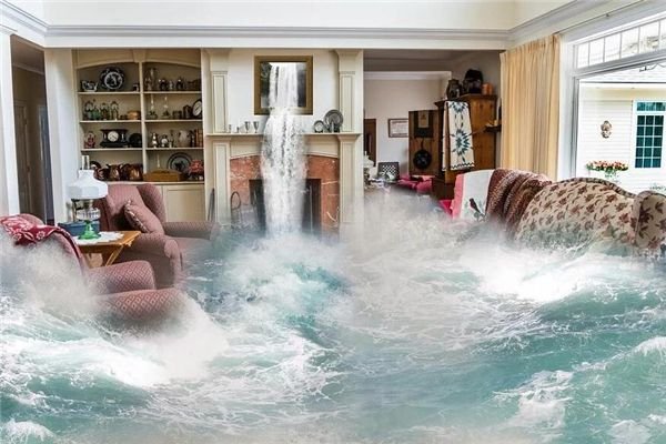 梦见屋里发水
