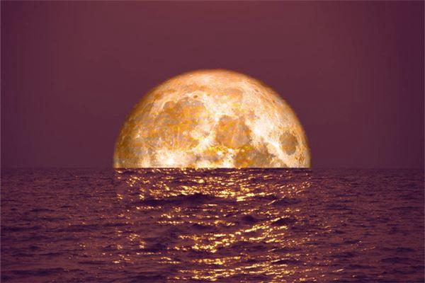 梦见月半食