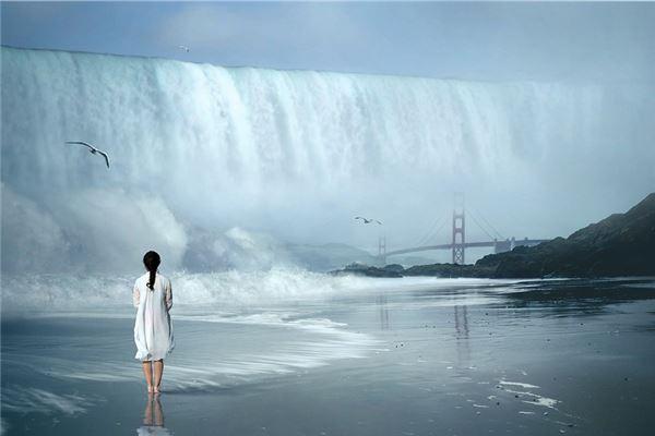 梦见洪水死人