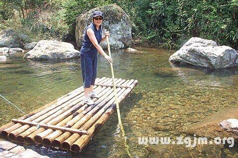梦见木筏 竹筏