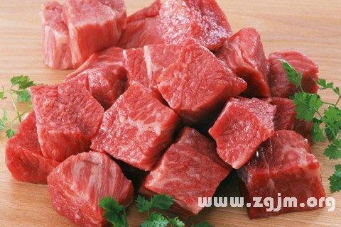 梦见肉 吃肉