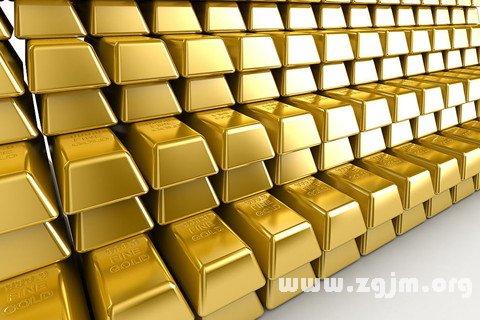 梦见黄金 金子