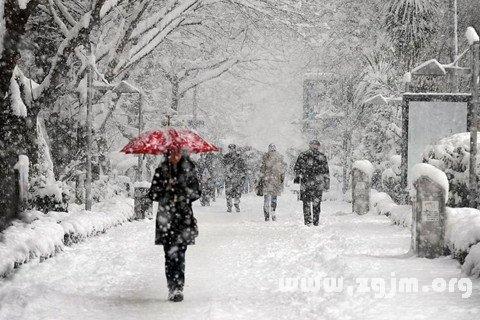 梦见雪 下雪