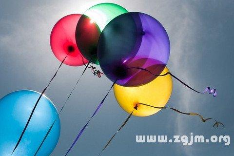 梦见汽球 气球