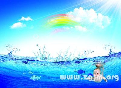 梦见大水游泳
