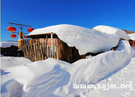 梦见屋顶有雪
