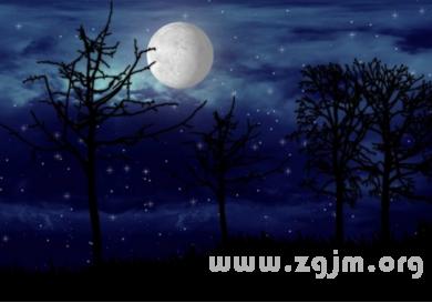 梦见月亮和星星
