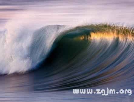 梦见海浪扑过来